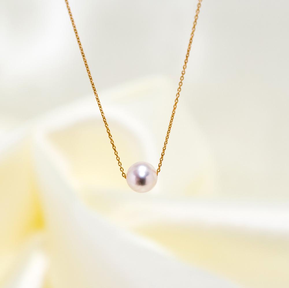 新商品 アコヤ真珠の粒ネックレス